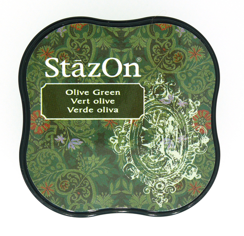 SZ-MID-51 Stazon Ink pad MIDI Olive green