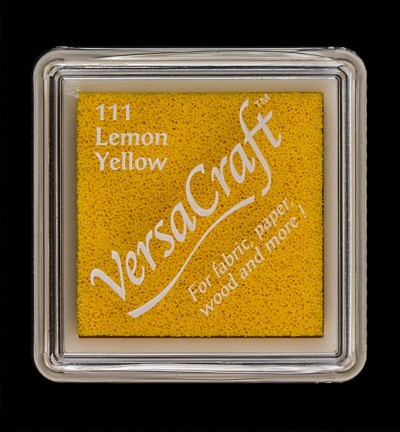 VK-SML-111 Versacraft inkpad small Lemon Yellow