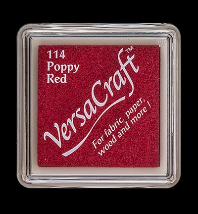 VK-SML-114 Versacraft inkpad small Poppy Red