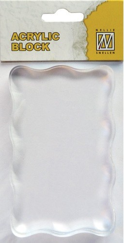 AB005 Acrylic Block: 50 x 80 x 8 mm