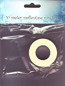 09.03.11.006 mallen tape10 mtr, 1cm breed