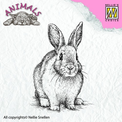 ANI012 Clear stamps animals rabbit