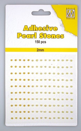 APS204 150 adh.pearls 2mm 3 col yellow/gold