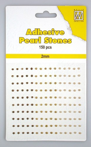 APS205 150 adh.pearls 2mm 3 col brown