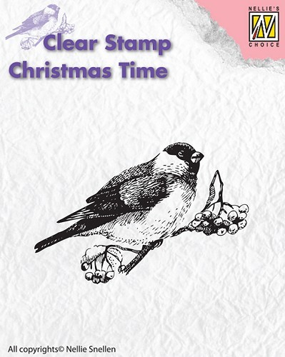 CT011 Clear stamps Christmas Time bird