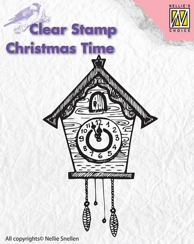 CT012 Clear stamps Christmas Time clock