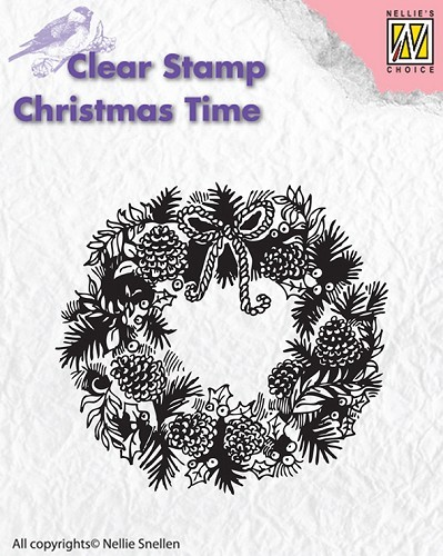 CT013 Clear stamps Christmas Time wreath