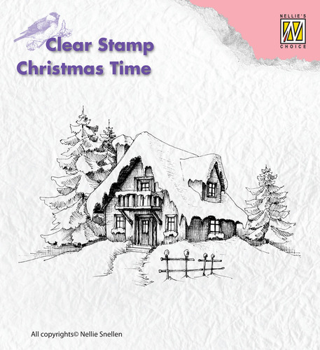 CT014 Clear Stamps Christmas time snowy house