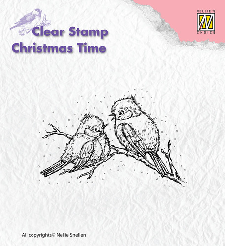 CT015 Clear Stamps Christmas time Christmas birds