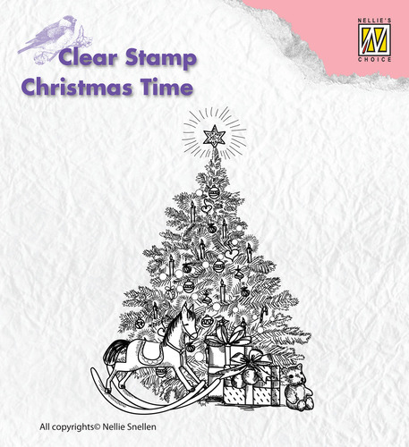 CT017 Clear Stamps Christmas time Christmas tree with gifts