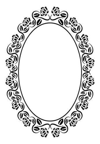 EFE021 Embossing folders oval rose frame 110x160mm