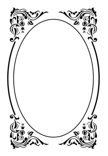EFE022 Embossing folders oval deco frame 110x160mm