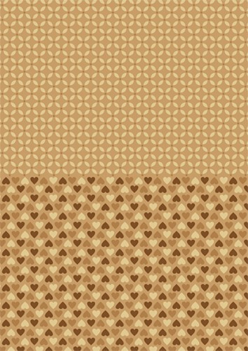 NEVA001 Doublesided background sheets A4 brown hearts