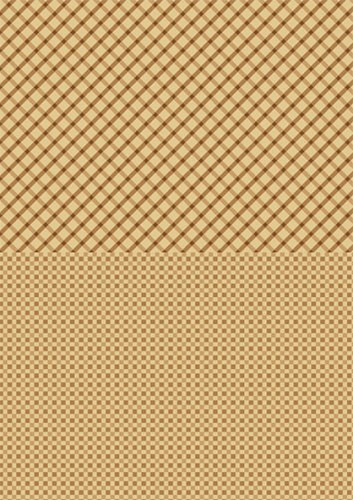 NEVA002 Doublesided background sheets A4 brown squares