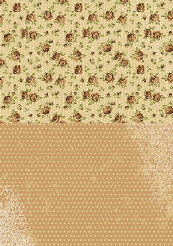 NEVA003 Doublesided background sheets A4 brown roses