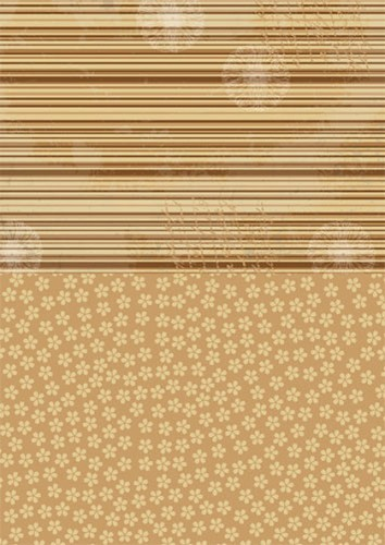 NEVA005 Doublesided background sheets A4 brown flowers