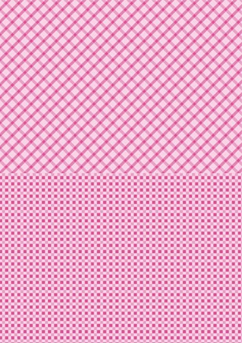 NEVA007 Doublesided background sheets A4 pink squares