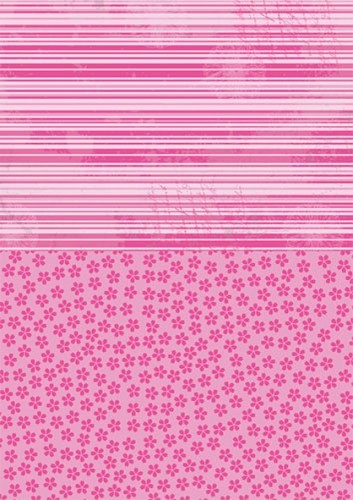 NEVA010 Doublesided background sheets A4 pink flowers