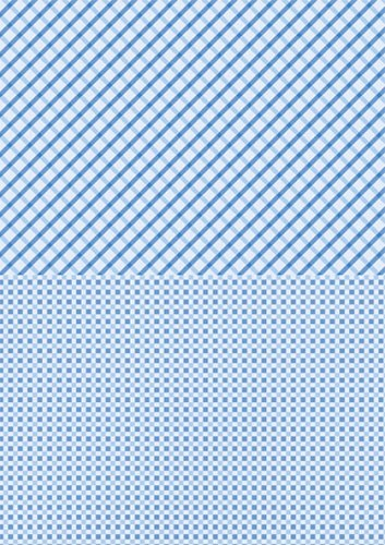 NEVA012 Doublesided background sheets A4 blue squares