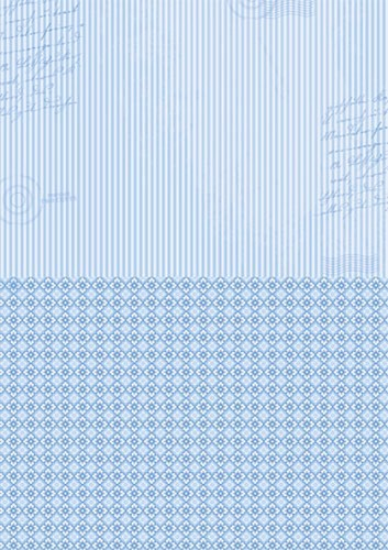 NEVA014 Doublesided background sheets A4 blue stripes