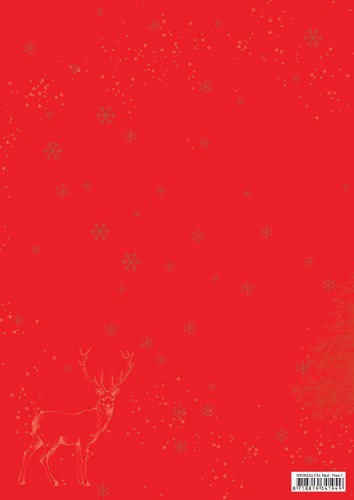 NEVA032 Doublesided background sheets A4 Christmas red Christmas tree-1