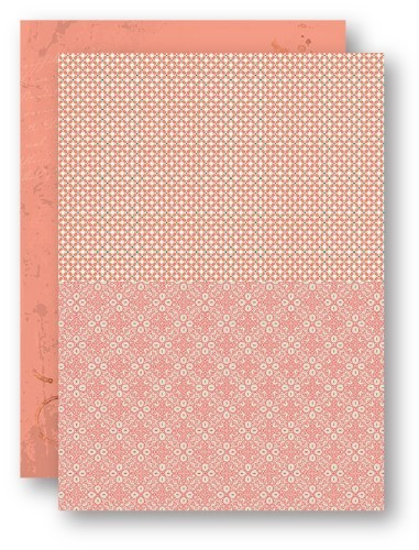 NEVA043 Background Sheets A4 salmon retro