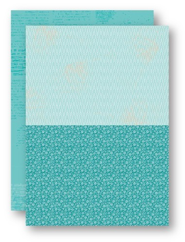 NEVA049 Background Sheets A4 turquoise flowers-2