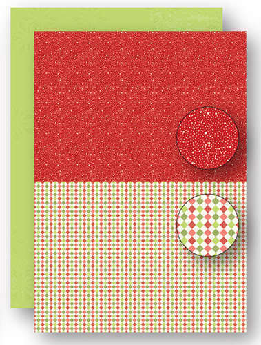 NEVA065 background sheets doublesided Christmas red dots