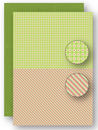 NEVA067 background sheets doublesided Christmas green lines