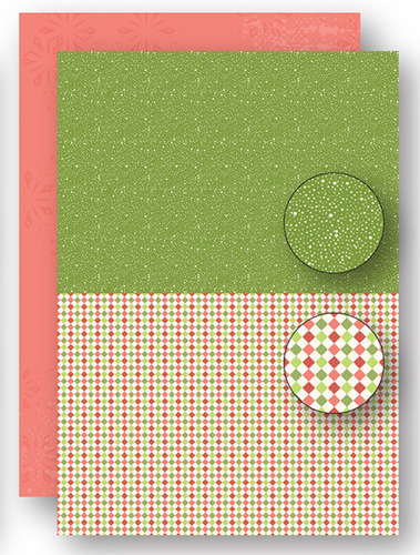 NEVA070 background sheets doublesided Christmas green dots