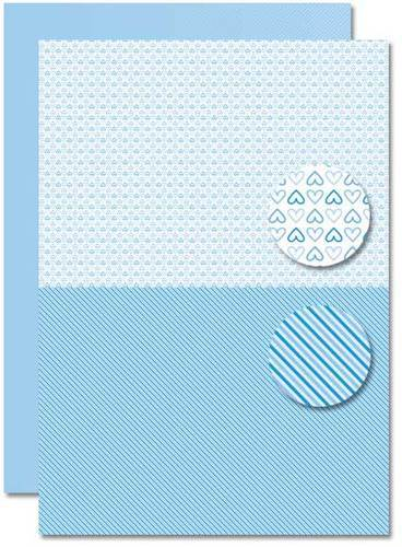 NEVA077 background sheets doublesided Babyboy hearts