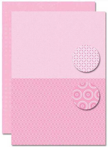 NEVA081 background sheets doublesided Babygirl flowers