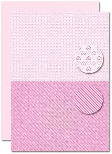 NEVA082 background sheets doublesided Babygirl hearts