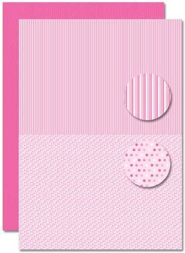 NEVA084 background sheets doublesided Babygirl dots