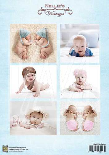 NEVI074 Vintage baby-serie twins