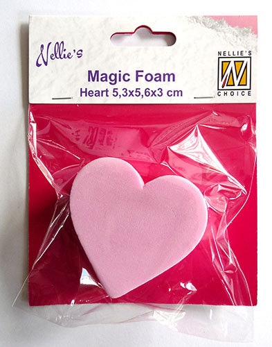 NMMMF006 Magic Foam heart shape 5,3x5,6x3cm