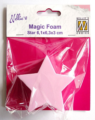 NMMMF007 Magic Foam star shape 6,1x6,3x3cm
