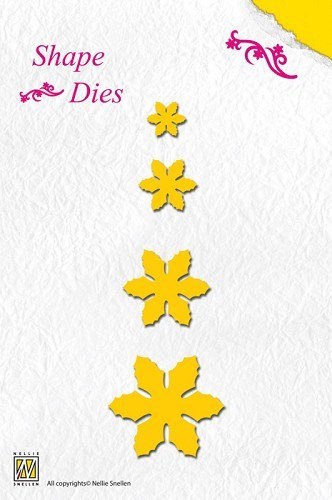 SD004 Shape Die Christmas flowers