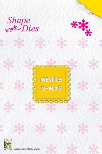 SD018 Shape Die Text Merry Christmas