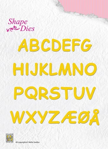 SD037 Shape Dies Alphabet