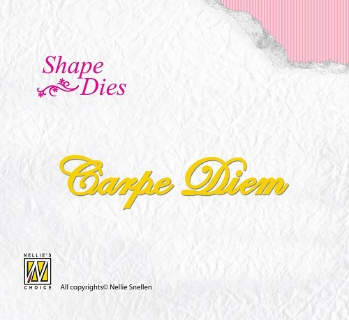 SD043 Shape Dies Latin text Carpe Diem