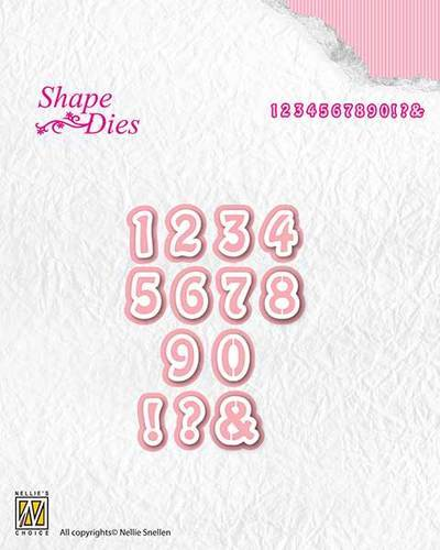 SD121 Shape Dies numbers
