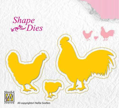 SD123 Shape Dies chicken family
