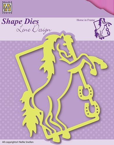 SDL004 Shape Die Lene Design Horse in frame