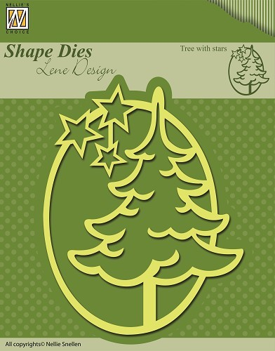 SDL010 Shape Dies Christmas Tree with stars