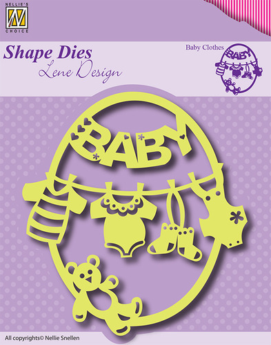 SDL012 Shape Dies Frame Baby-clothes-bear