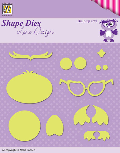 SDL024 Shape Dies Lene Design build-up die owl