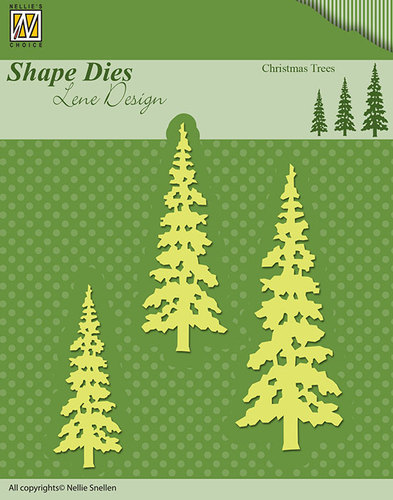 SDL026 Shape Dies Nellie Design Christmas trees
