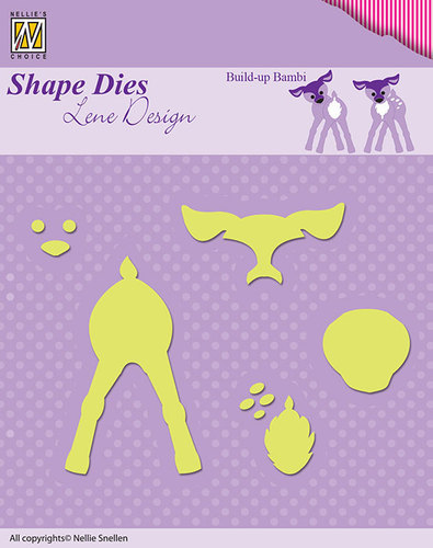 SDL027 Shape Dies Lene Design build-up die Bambi