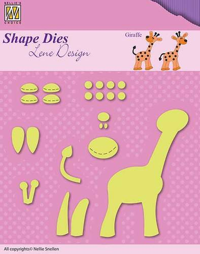 SDL030 Shape Dies Lene Baby serie build-up giraffe